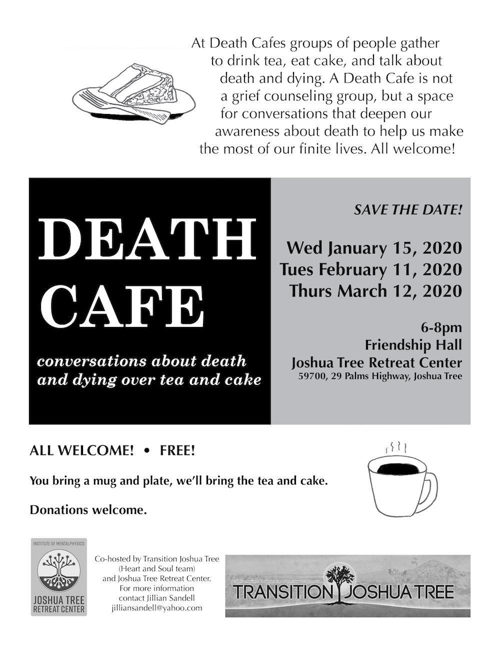 Death Cafe flyer Spring 2020 FINAL resized