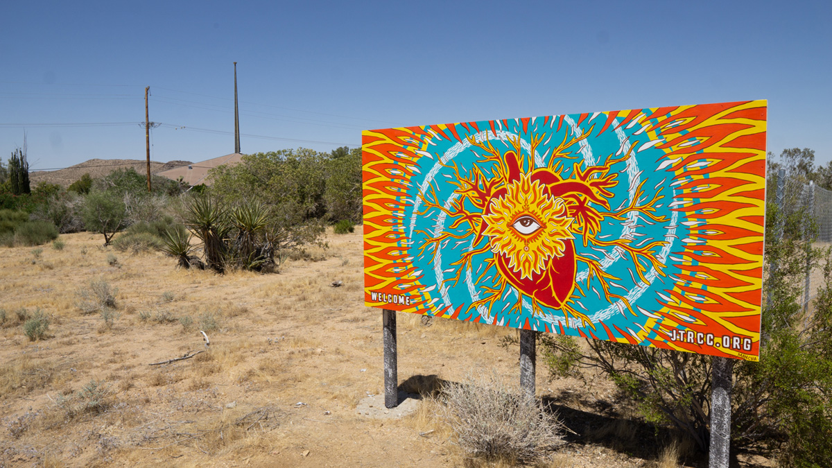 Mural by Martín Mancha at the Joshua Tree Retreat Center